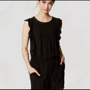 Ann Taylor Romper with Ruffled Sleeves